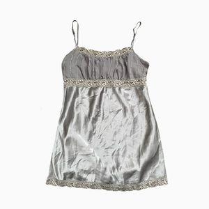 ❤️2/$35❤️ Pastel Green Y2K Silk Lace Wrap Tank Top